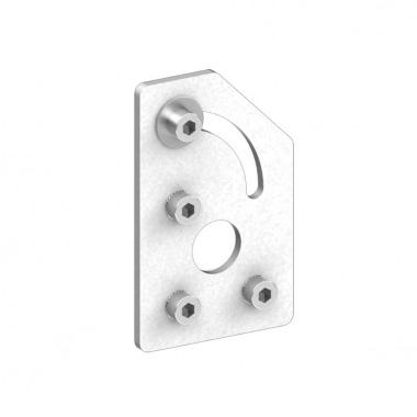 可调节角度的固定板-右斜口